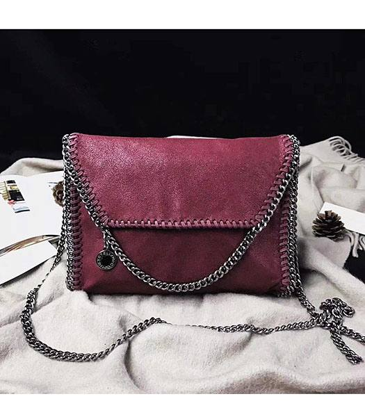 Stella McCartney Falabella Jujube Environmental Polyester Fiber 22cm Shoulder Bag Silver Chains