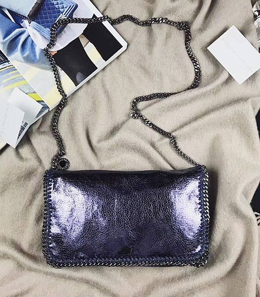 Stella McCartney Falabella Dark Purple Oil Wax Body Bag