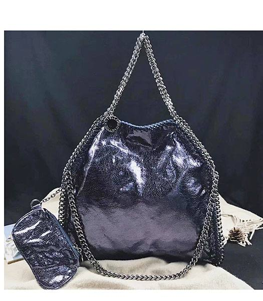 Stella McCartney Falabella Dark Purple Oil Wax 36cm Tote Bag
