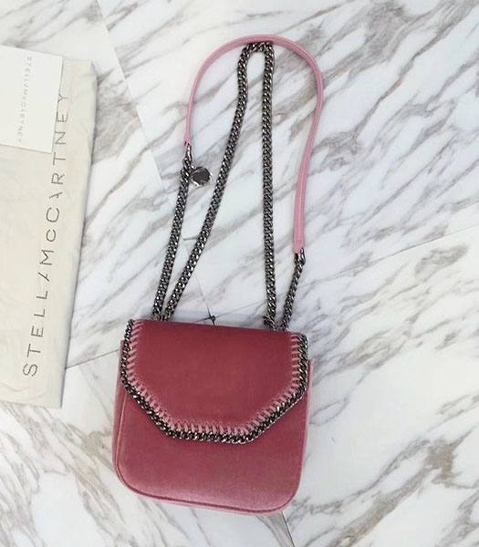 Stella McCartney Falabella Box Watermelon Red Velvet 16cm Shoulder Bag