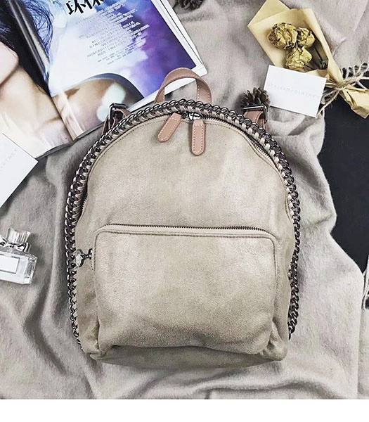 Stella McCartney Falabella Apricot Environmental Polyester Fiber 25cm Backpack