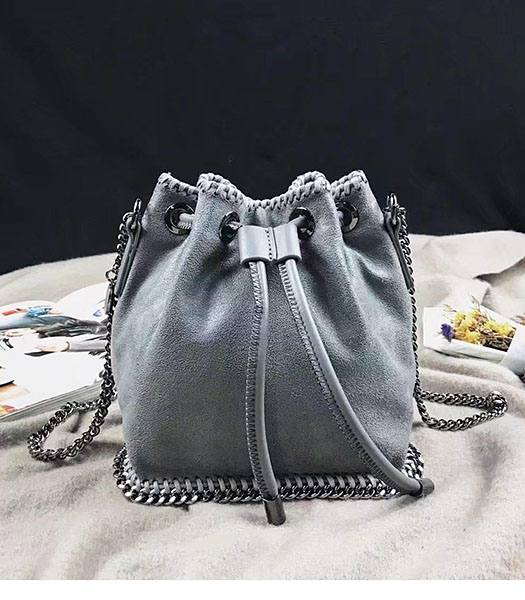 Stella McCartney Falabella Grey Environmental Polyester Fiber 17cm Hobo Bag