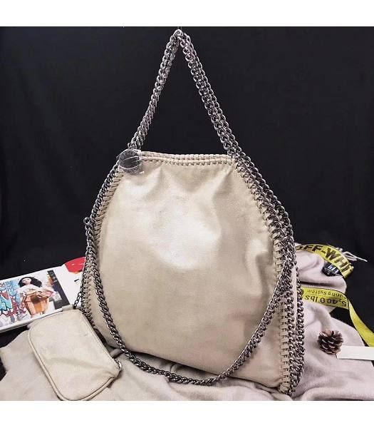 Stella McCartney Falabella Apricot Environmental Polyester Fiber 36cm Tote Bag-6