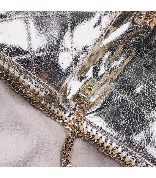 Stella McCartney Falabella Rhombus Golden Oil Wax Cross Body Bag-4