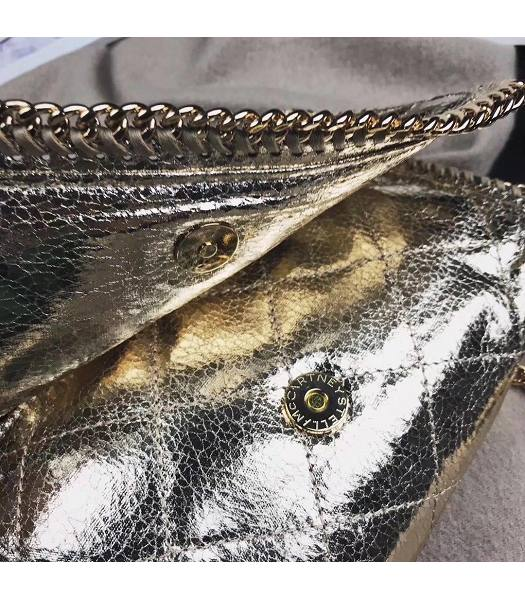 Stella McCartney Falabella Rhombus Golden Oil Wax Cross Body Bag-5