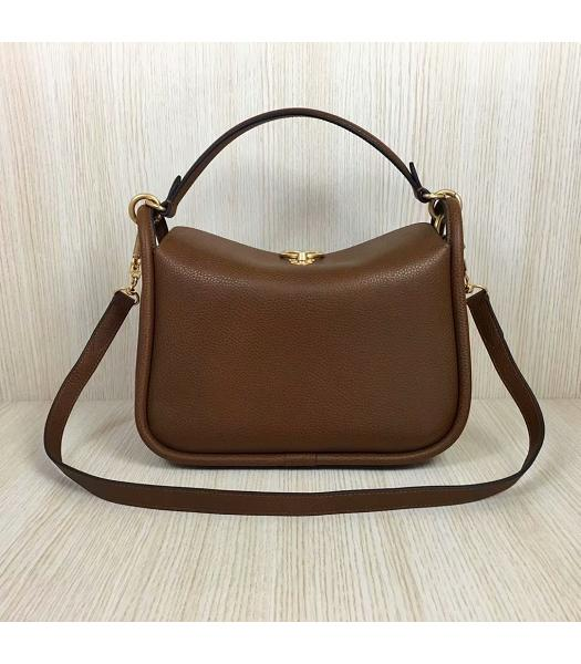 Mulberry Leighton Light Coffee Litchi Veins Leather Small Top Handle Shoulder Bag-1