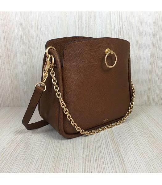 Mulberry Leighton Light Coffee Litchi Veins Leather Small Top Handle Shoulder Bag-2