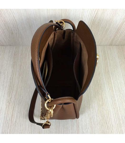 Mulberry Leighton Light Coffee Litchi Veins Leather Small Top Handle Shoulder Bag-5