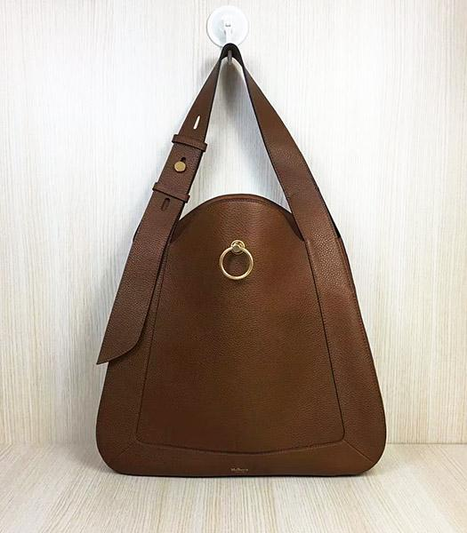 Mulberry Marloes Light Brown Original Litchi Veins Leather Hobo Bag