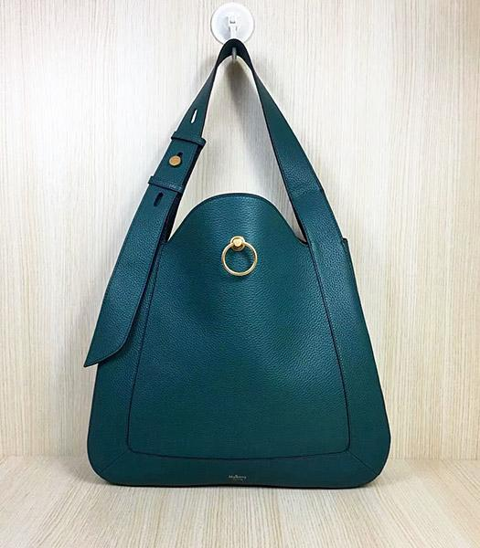 Mulberry Marloes Blue Original Litchi Veins Leather Hobo Bag