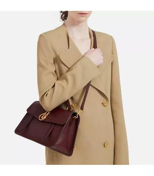 Mulberry Gracy Jujube Litchi Veins Leather Tote Satchel Bag-5