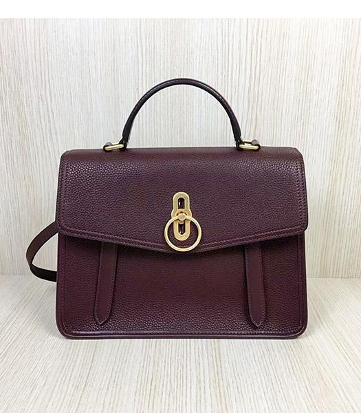 Mulberry Gracy Jujube Litchi Veins Leather Tote Satchel Bag