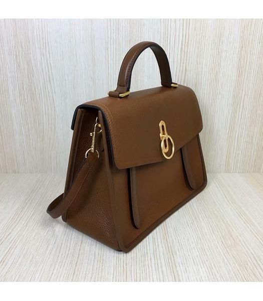 Mulberry Gracy Light Coffee Litchi Veins Leather Tote Satchel Bag-6