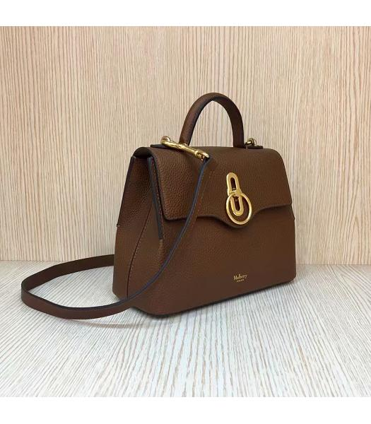 Mulberry Mini Seaton Light Coffee Litchi Veins Leather Top Handle Shoulder Bag-6