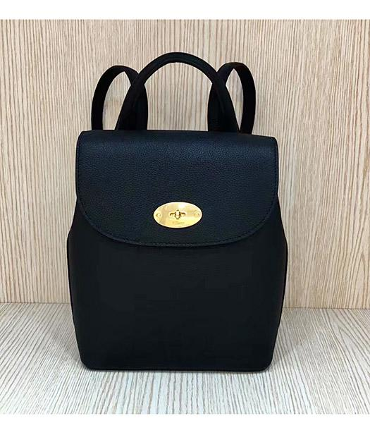 Mulberry Mini Bayswater Black Litchi Veins Leather Backpack