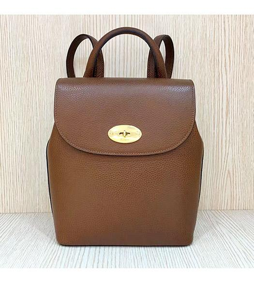 Mulberry Mini Bayswater Light Coffee Litchi Veins Leather Backpack