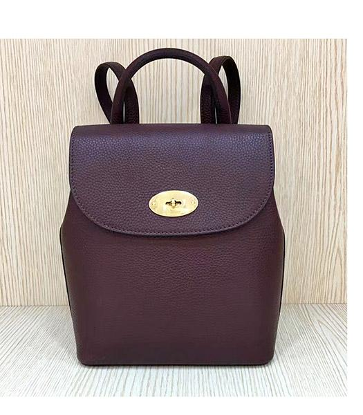 Mulberry Mini Bayswater Jujube Litchi Veins Leather Backpack