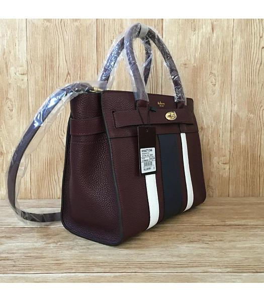 Mulberry Bayswater Web Jujube Litchi Veins Leather 29cm Tote Bags-1