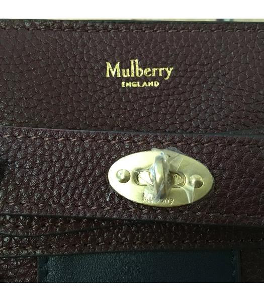 Mulberry Bayswater Web Jujube Litchi Veins Leather 29cm Tote Bags-5