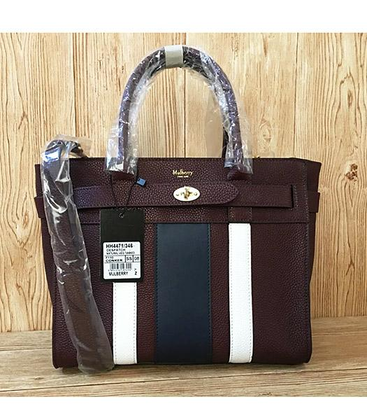 Mulberry Bayswater Web Jujube Litchi Veins Leather 29cm Tote Bags
