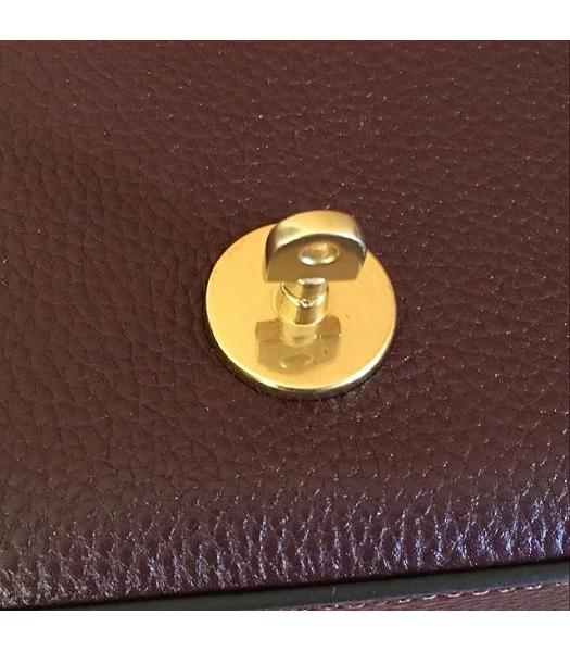 Mulberry Small Darley Jujube Litchi Veins Leather Satchel Bag-4
