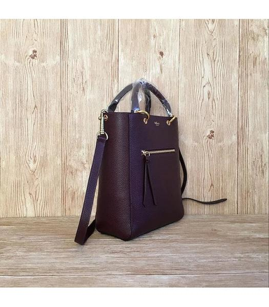 Mulberry Small Maple Jujube Litchi Veins Leather 23cm Tote Bag-1