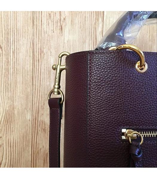 Mulberry Small Maple Jujube Litchi Veins Leather 23cm Tote Bag-3