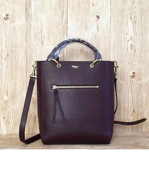 Mulberry Small Maple Jujube Litchi Veins Leather 23cm Tote Bag