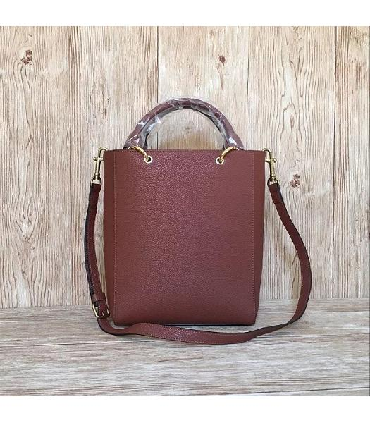 Mulberry Small Maple Light Coffee Litchi Veins Leather 23cm Tote Bag-3