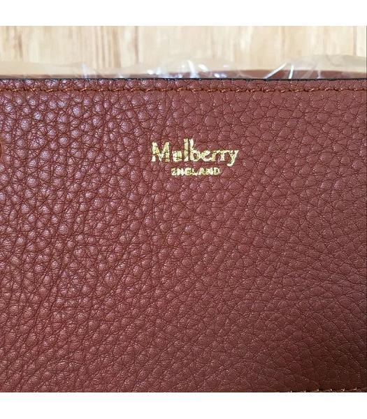 Mulberry Small Maple Light Coffee Litchi Veins Leather 23cm Tote Bag-5