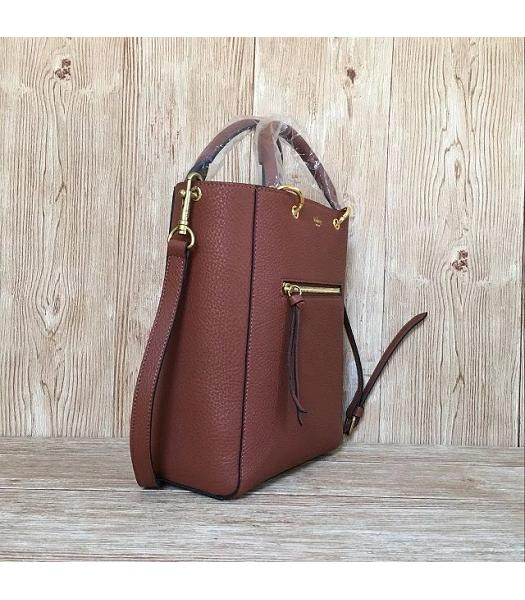Mulberry Small Maple Light Coffee Litchi Veins Leather 23cm Tote Bag-6