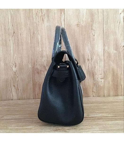 Mulberry Heritage Bayswater Black Litchi Veins Leather 28cm Tote Bag-4