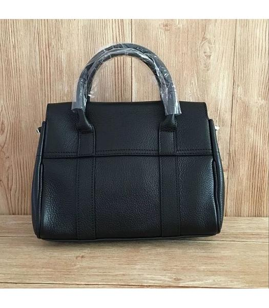 Mulberry Heritage Bayswater Black Litchi Veins Leather 28cm Tote Bag-5