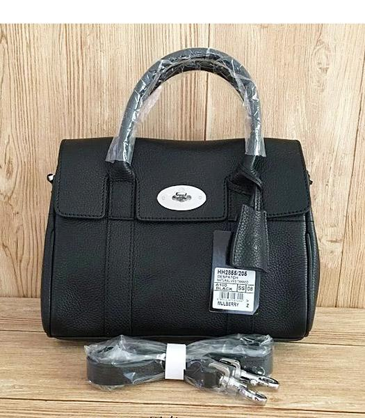 Mulberry Heritage Bayswater Black Litchi Veins Leather 28cm Tote Bag