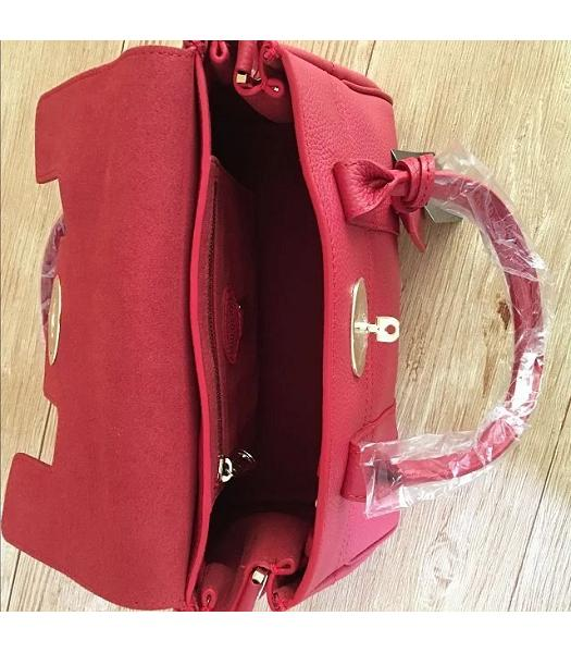 Mulberry Heritage Bayswater Red Litchi Veins Leather 28cm Tote Bag-3