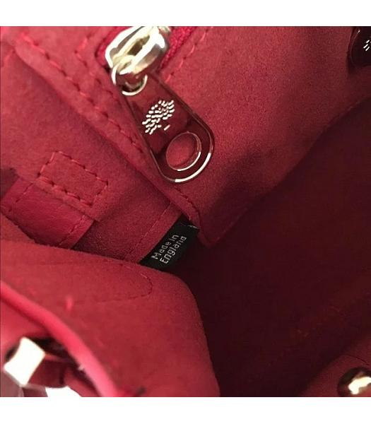 Mulberry Heritage Bayswater Red Litchi Veins Leather 28cm Tote Bag-5