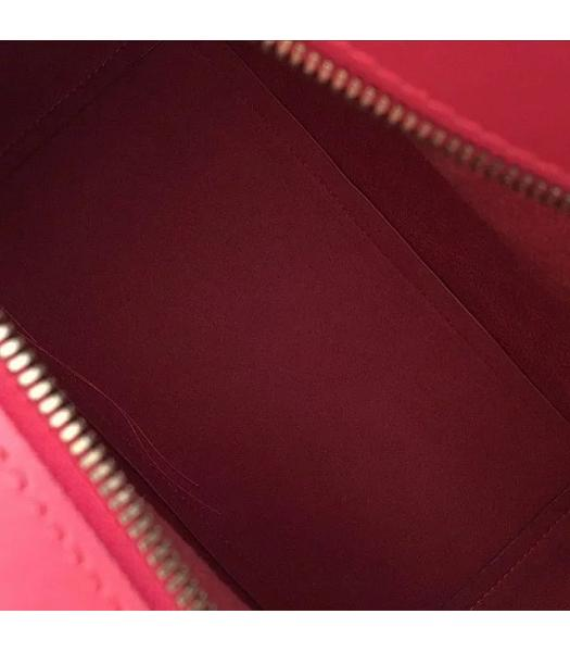 Mulberry Red Croc Veins Leather Top Handle Bag-1