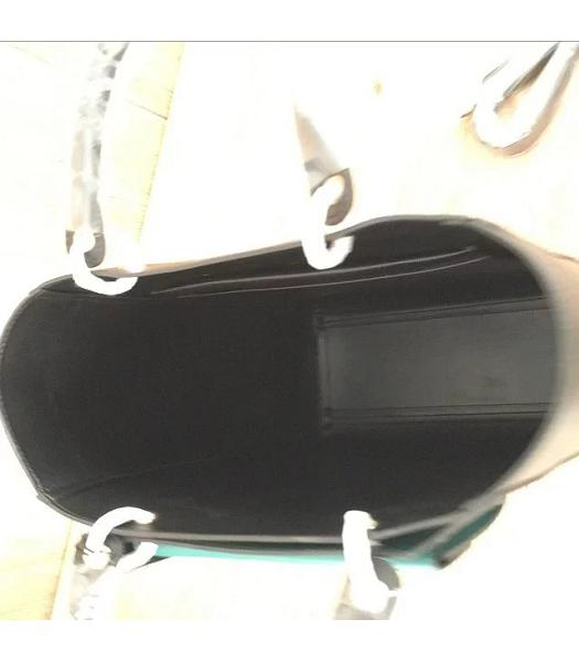 Mulberry Black&Green Plain Veins Leather 31cm Tote Bag-3