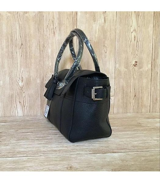 Mulberry Black Plain Veins Leather 28cm Tote Bag-1