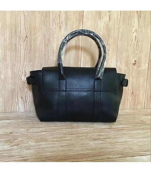 Mulberry Black Plain Veins Leather 28cm Tote Bag-5