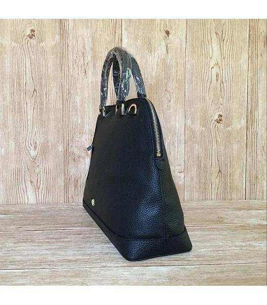 Mulberry Black Litchi Veins Leather Tote Bag-1