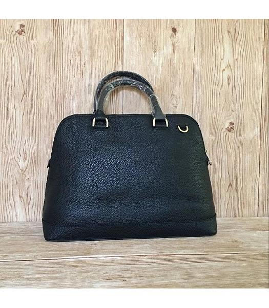 Mulberry Black Litchi Veins Leather Tote Bag-6