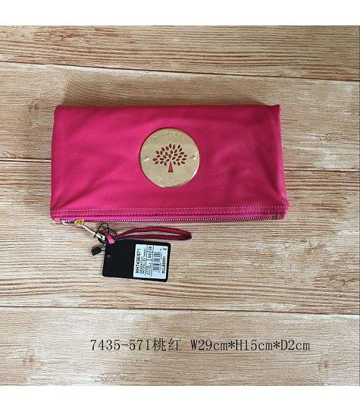 Mulberry Daria Peach Soft Calfskin Leather Clutch