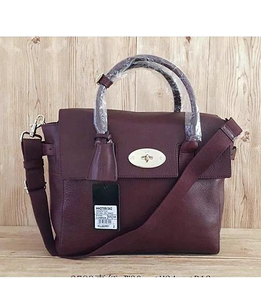 Mulberry Jujube Calfskin Leather 30cm Delevingne Bag