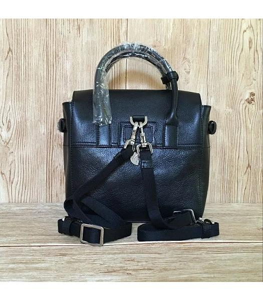 Mulberry Black Calfskin Leather 23cm Delevingne Bag-1