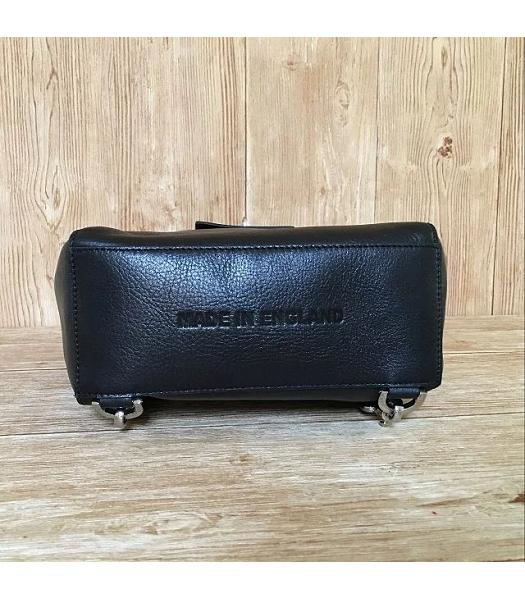 Mulberry Black Calfskin Leather 23cm Delevingne Bag-2