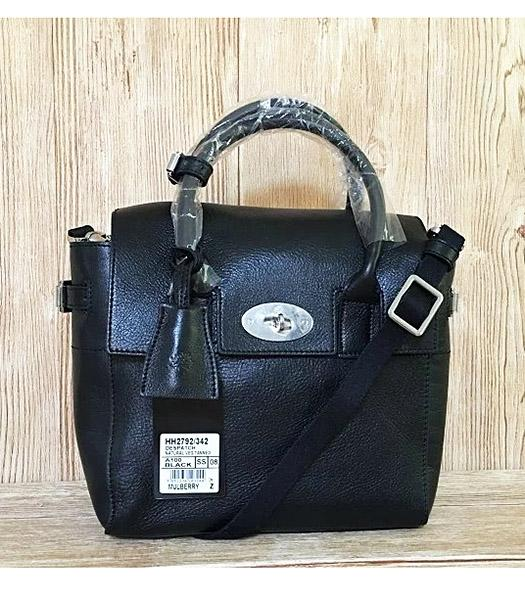 Mulberry Black Calfskin Leather 23cm Delevingne Bag