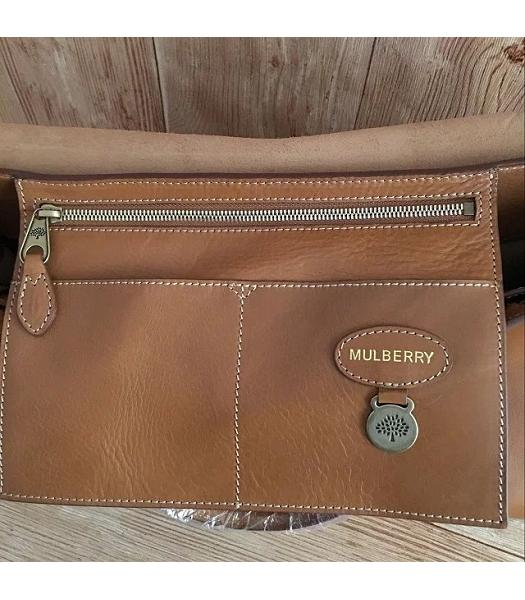 Mulberry Bayswater Light Coffee Plain Veins Leather 50cm Oversize Bag-1