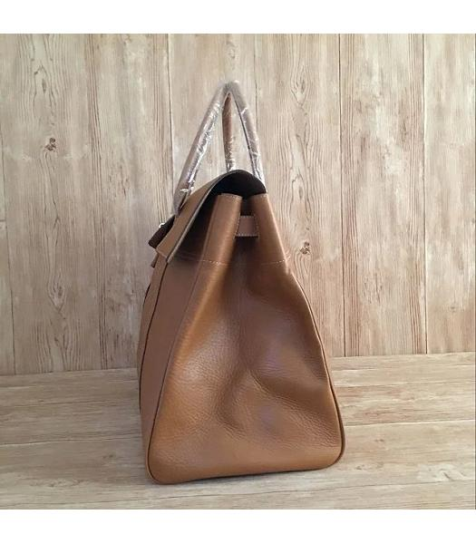 Mulberry Bayswater Light Coffee Plain Veins Leather 50cm Oversize Bag-2