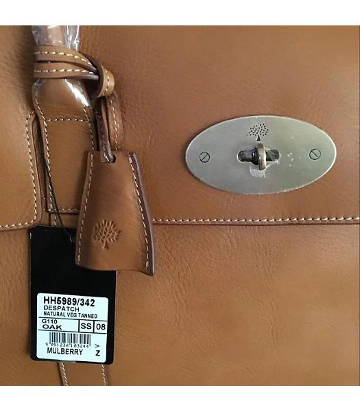 Mulberry Bayswater Light Coffee Plain Veins Leather 50cm Oversize Bag-3